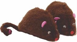Игрушка для кошек Мышка мех 10см 1шт - фото 10123