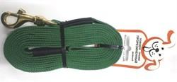 Поводок для собак прорезиненный 20мм*5м зеленый карабин бронза - фото 10364