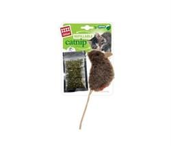 GIGWI Мышка с кошачьей мятой 10см
