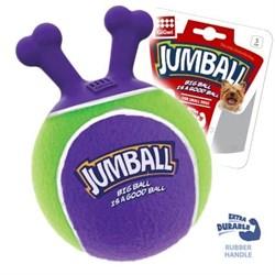 GIGWI JUMBALL Мяч с захватом, тенисный материал зеленый 18см