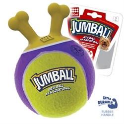GIGWI JUMBALL Мяч с захватом, тенисный материал желтый 18см