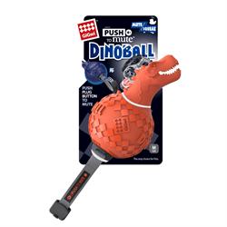 GIGWI Динозавр с отключаемой пищалкой оранжевый 13см
