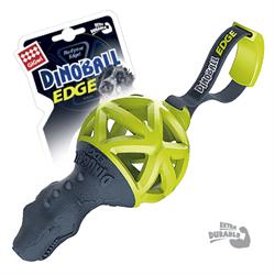 GIGWI Динозавр с ручкой для перетягивания черно-зеленый 13см