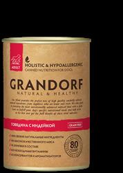 GRANDORF Консервы для собак Говядина и Индейка