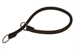 Collar Ошейник-удавка рывковый WAUDOG SOFT ширина 13мм длина 60см чёрный - фото 11562