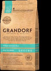 Сухой корм для собак GRANDORF ПРОБИОТИК  4 вида мяса с рисом для ВСЕХ пород 12 кг - фото 11873