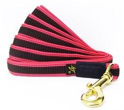 Поводок для собак прорезиненный 20мм*2м красный карабин бронза - фото 13117