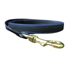 Поводок для собак прорезиненный 2м темно-синий