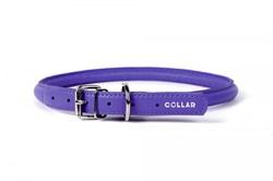 Ошейник для собак WAUDOG GLAMOUR круглый для длинношерстных, 10мм*33-41см фиолетовый - фото 14033