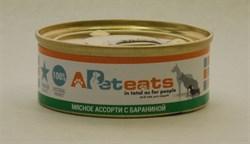 PetEats мясное ассорти для собак с бараниной 100 г.