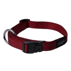 Ошейник для собак Rogz FANBELT 20мм*34-56см, красный - фото 5247