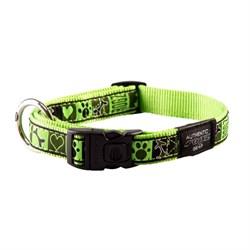 Ошейник для собак Rogz BEACH BUM 20мм*34-56 см, зеленый - фото 5321
