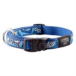 Ошейник для собак Rogz BEACH BUM 20мм*34-56см, синий - фото 5322
