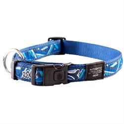 Ошейник для собак Rogz ARMED RESPONSE 25мм*43-70см, синий - фото 5361