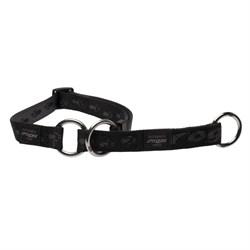 Ошейник-удавка для собак Rogz K2 20мм*34-56см, черный - фото 5365