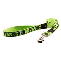 Поводок для собак Rogz BEACH BUM 20мм*140см, зеленый с орнаментом - фото 5625