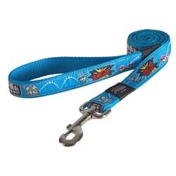 Поводок для собак Rogz SCOOTER 16мм*140см, голубой - фото 5790