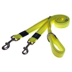 Поводок-перестежка для собак Rogz LUMBERJACK 25мм Дл 1.0-1.3-1.6 м, лимонный - фото 5891