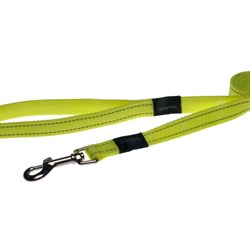 Поводок для собак Rogz SNAKE 16мм*140см, лимонный - фото 5928
