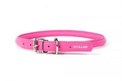 Collar Ошейник  CoLLaR GLAMOUR круглый для длинношерстных собак шир 6 мм дл 17-20 см розовый - фото 6081