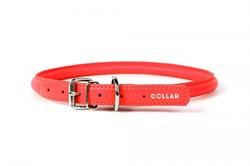 Collar Ошейник  CoLLaR GLAMOUR круглый для длинношерстных собак шир 8 мм дл 20-25 см красный - фото 6084