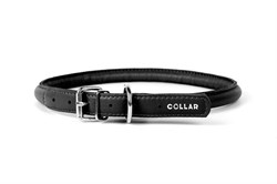 Collar Ошейник  WAUDOG GLAMOUR круглый для длинношерстных собак шир 13 мм дл 53-61 см черный - фото 6093