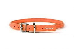 Ошейник для собак WAUDOG GLAMOUR круглый для длинношерстных шир 6 мм дл 17-20 см оранжевый - фото 6095