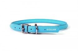 Collar Ошейник  WAUDOG GLAMOUR круглый для длинношерстных собак шир 8 мм дл 20-25 см голубой - фото 6100