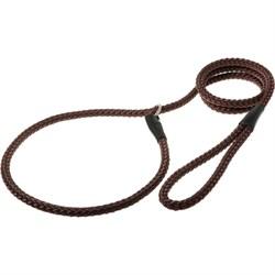Пет Люкс Поводок-удавка с кольцом 12ммх170см (красно-коричневый) PDE1268RBR