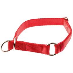 V.I.Pet Ошейник-полуудавка регулируемый 25мм (40-60) красный