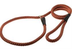 Пет Люкс Поводок-удавка с кольцом 10ммх170см (красно-коричневый)