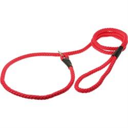 Пет Люкс Поводок-удавка с кольцом 10ммх170см (красный)