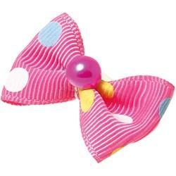 Пет Люкс Бантик  бабочка  (пара) 3,5см*2,5см розовый с камушком - фото 6880