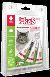 Мисс Кисс Капли репеллентные для крупных кошек весом более 2 кг. 3 шт.*2,5 мл. - фото 6952