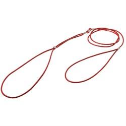 V.I.Pet Ринговка круглая нат кожа 3 мм 1,2 м красная - фото 7223