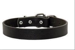 FDT Ошейник кожаный караульный №40 (кольцо перед пряжкой) 65-85см