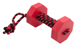 Doglike Апортировочный снаряд  c канатом DUMBBELLDOG WOOD Большой 1000г дерево красный - фото 8139