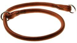V.I.Pet Ошейник-удавка с 2-мя кольцами круглый 13мм.х80см. коричневый