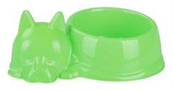 Миска для кошек Барсик 0.5л зеленый - фото 9708