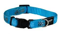 Ошейник для собак Rogz BEACH BUM 20мм*34-56см, голубой - фото 9959