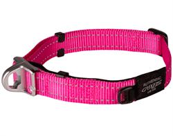 Ошейник для собак с системой безопасности Rogz SAFETY COLLAR 16мм*24-39см, розовый - фото 9963