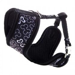 Шлейка-манишка для собак Rogz FABRIC HARNESS XS 8мм*27-34см, черный - фото 9995