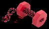 Doglike Апортировочный снаряд  c канатом DUMBBELLDOG WOOD средний 650г дерево красный