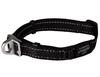 Ошейник для собак с системой безопасности Rogz SAFETY COLLAR 16мм*24-39см, черный