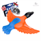Игрушка GIGWI Утка с пищалкой оранжево-синяя 27см